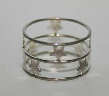 Silver Tone Wire & Star Size 9 Ring Jewelry Band