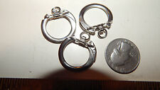 100  VINTAGE NEW SILVER TONE 25MM KEY RING FINDINGS