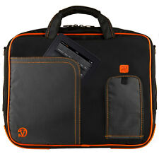 Black/Orange VanGoddy Shoulder Bag Pouch Sleeve for Apple iPad 2 / 3 /4 /5 Air 2