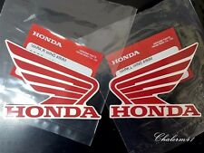 HONDA GENUINE 100% WING - Red White - 2X 85 mm B5K22 STICKER DECAL PLATE EMBLEM