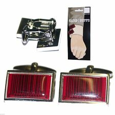 Red Barcode Cufflinks on Display Card