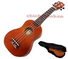 """Holiday Sale Woodnote/ Brown with Red 21"""" Wooden Soprano Ukulele+Free Black Bag"""