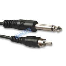 """6,35 Mm 1/4 """"Conector Jack Mono De único de Phono RCA Cable De Audio Mixer Amp Lead 1.8 m"""