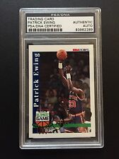 AUTHENTIC 1992-93 HOOPS PATRICK EWING AUTOGRAPH SIGNED 1:14400 AUTO PSA DNA RARE