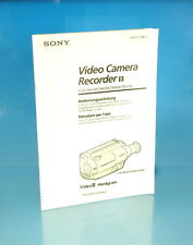 SONY Video Camera Recorder 8 Bedienungsanleitung Istruzioni per l'uso - (1264)