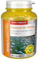 Simply Supplements Flaxseed Oil 1000mg 360 Capsules (S533)
