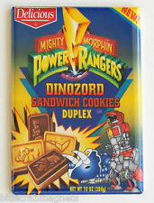 Power Rangers Cookies FRIDGE MAGNET (2 x 3 inches) box dinozord mighty moprhin'