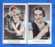 Franziska Gaal 1934 Massary Caid Film Star Cigarette Cards Lot of 2