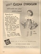 "1954 Eegee's ""Susan Stroller"" Doll available in four sizes PRINT AD"