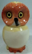 Genuine Alabaster Hand Carved/Painted OWL Figure Made Italy