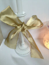 JUST GOLD sateen / organza wedding 63mm - Luxury Wire Edged Ribbon 1.5 metres