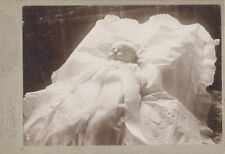 POST MORTEM PHOTO OF BABY IN LACE BEDDING -BOSTON, MASSACHUSETTS