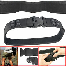 Heavy Duty Police Army Security Guard Paramedic Utility Belt Quick Release Black