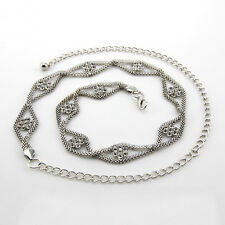 Plata diamante/diamond señoras Cintura chain/charm Belt - One Size Fits All - 229