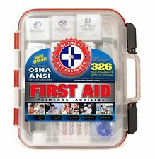 First Aid Kit Box 326 Piece Medical Emergency Products Wall Mount Case Cabinet
