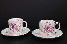 Royal Crown Derby Set of Two Derby Posies Demitasse Cups and Saucers