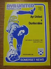 07/03/1981 Ayr United v Dunfermline Athletic   (No obvious faults)
