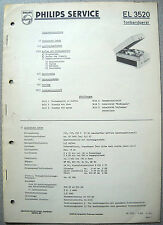 Philips el3520 magnétophone service manual, édition 07/58