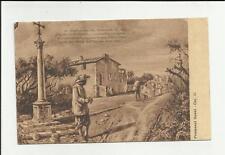 antica cartolina formato piccolo lecco i promessi sposi capitolo XI