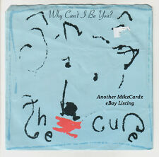 "THE CURE ""Why Can't I Be You? / A Japanese Dream"" 1987 ELEKTRA 45 Sleeve/Record"
