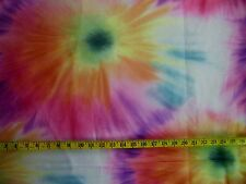 TYE DYE TIE DYE PRINT  ON SHEER POLYESTER ORGANZA  FABRIC BY THE 1/2 YARD
