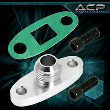Turbo Oil Drain Gasket Adapter Flange T4 T04S Turbocharger Aluminum Fitting 10AN