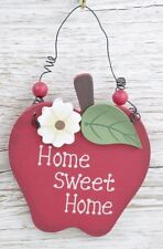 Apple Plaque Home Sweet Home  Apple Shaped Sign Friendship Gift F0568
