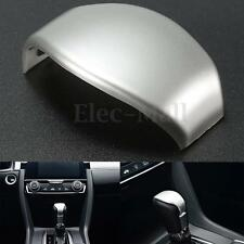 Gear Shift Knob Cover Chrome Trim Center Bezel Lid For Honda Civic 2016 2017