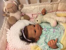 Very Soft Vinyl Beautiful Reborn baby girl Lara By: Linde Scherer 21 in.