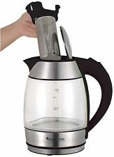TurboTronic 1.8L LED Illuminated Electric Glass Kettle 2200W 360° With Infusion