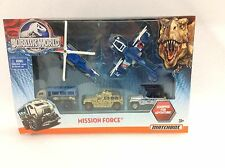 Matchbox Jurassic World Mission Force 5 piece Vehicle Pack - Free Shipping