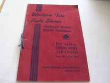 WESTERN TIRE AUTO STORES 1st ANNUAL SPRING DANCE 1941 HOTEL MORRISON CHICAGO