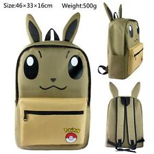 pokemon eevee canvas backpack fashion anime school leasure bag new