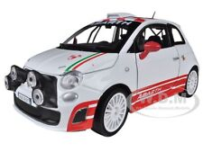 FIAT ABARTH 500 R3T WHITE 1/24 DIECAST MODEL CAR BY MOTORMAX 73379