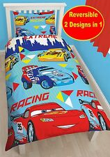 DISNEY CARS CHAMP SINGLE DUVET QUILT COVER REVERSIBLE KIDS BOYS BEDDING SET