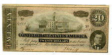 Confederate States of America … P-69 … 20 Dollars … 17-2-1864 … (-)*XF*