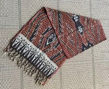 Indonesia Ikat Natural Dyes Backstrap Loom Over The Shoulder Scarf Hinggi