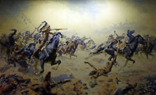 Custer's Last Stand  by William Robinson Leigh   Paper Print Repro