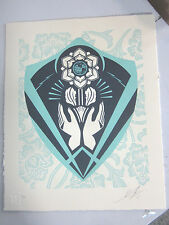 Shepard Fairey-Obey Giant-Respect and Justice Letterpress-S&N
