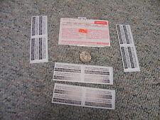 Walthers decals HO Numbers D209 Diesel loco numbers black white   C77