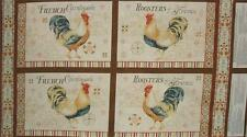 Bohemian Roosters Chicken Country Wilmington 4 Placemat Panel Fabric