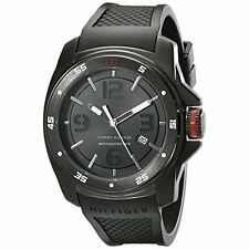 Tommy Hilfiger Men's 1790708 Analog Display Japan Movement Black Watch