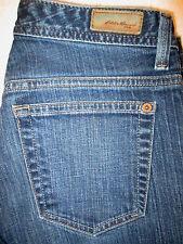 Eddie Bauer Stretch Straight Leg Womens Dark Blue Denim Jeans Size 8 P x 27