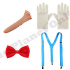 PINOCCHIO LONG NOSE BOW TIE BRACES WHITE GLOVES BOOK WEEK FANCY DRESS COSTUME
