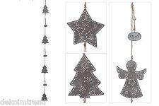 Girlande Metall Weihnachten Fensterhänger Hänger Fensterdeko Türdeko Tannenbaum