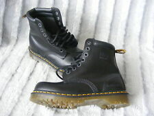 Womens Mens Black Leather Dr Martens Royal Mail Safety Boots UK 5 EUR 38 US 6 M