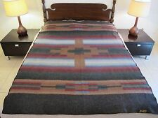 Vintage PEARCE WOOLRICH Blanket, Native Southwest Design, Good Condition; TWIN