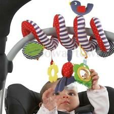 Baby Kids Funny Toys Spiral Activity Stroller Car Seat Cot Lathe Hanging Doll HK