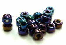 6/4MM CZECH GLASS LARGE HOLE RONDELLE/SPACER/PONY BEAD - VARIOUS COLOURS - 40PCS