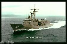USS Carr FFG-52 postcard US Navy guided missile frigate